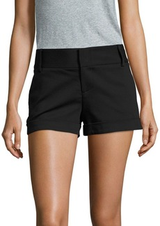 Alice + Olivia Cady Solid Cotton-Blend Shorts