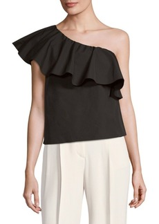 Alice + Olivia Calla One-Shoulder Ruffle Top