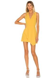 Alice + Olivia Callie Asymmetrical Drape Dress