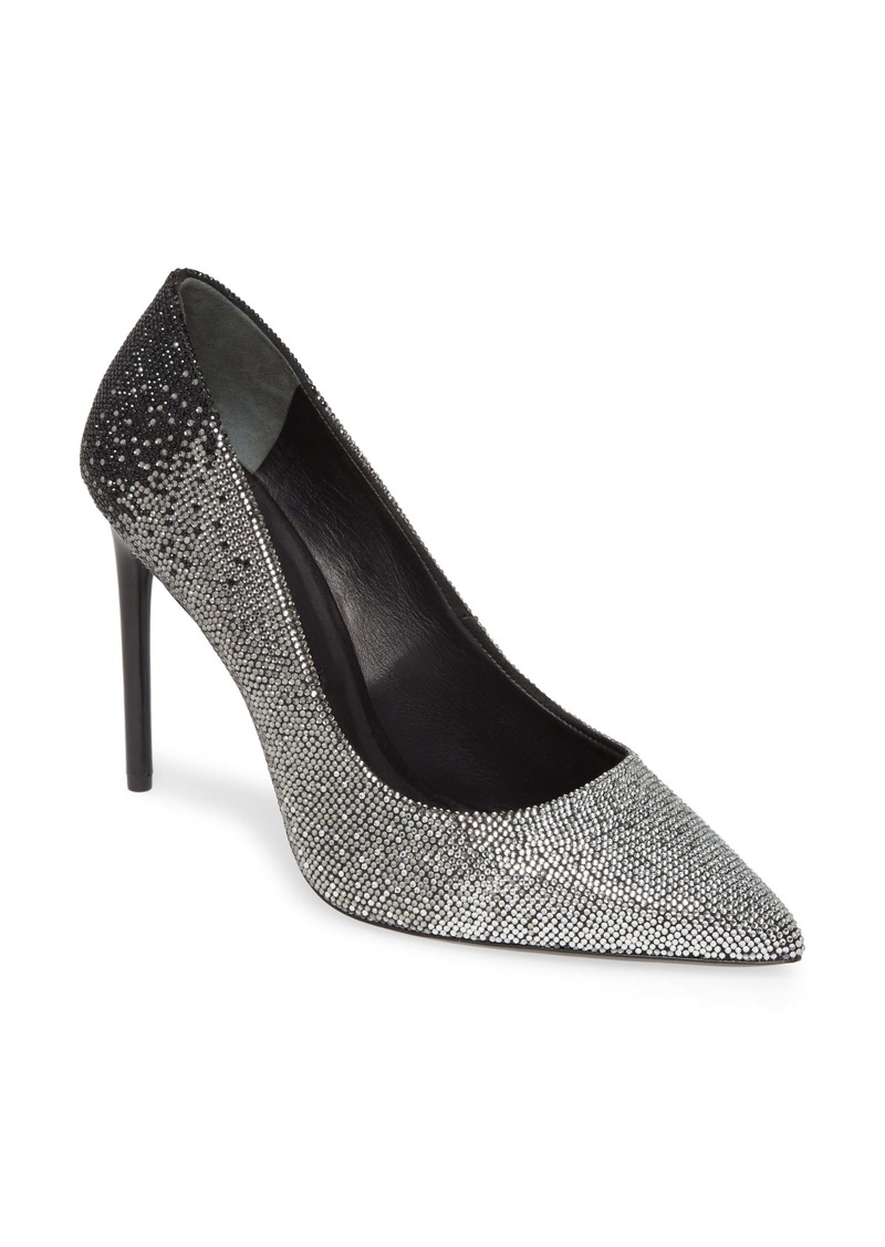 Alice + Olivia Calliey Ombré Crystal Pointed Toe Pump (Women)