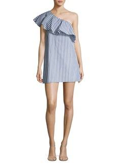 Alice + Olivia Cammie Ruffled Cotton Dress