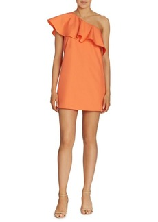 Alice + Olivia Cammie Ruffled One-Shoulder Dress