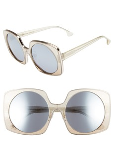 Alice + Olivia Canton 55mm Retro Sunglasses
