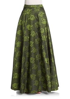 Alice + Olivia Carey Floral Jacquard Skirt