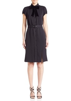Alice + Olivia Carie Belted Shirtdress