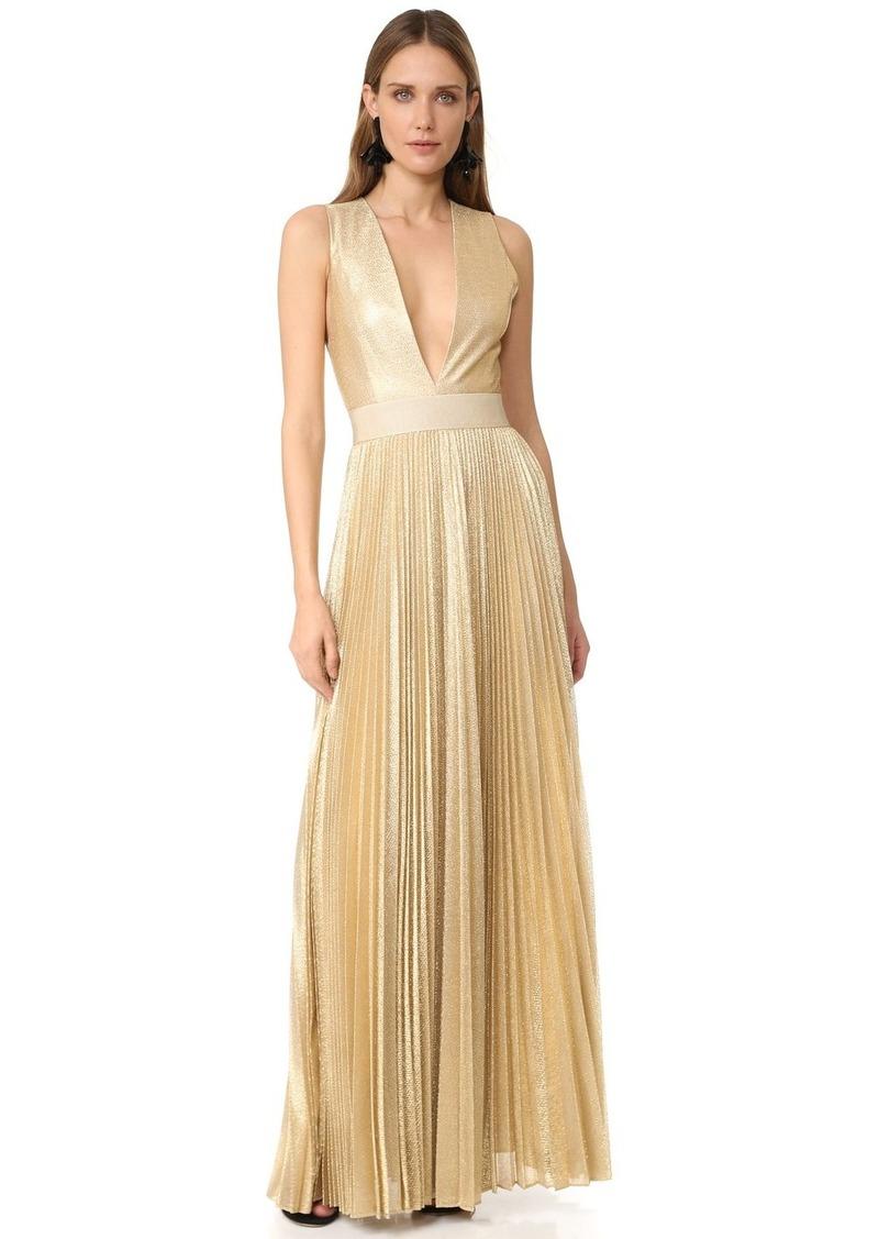 Alice + Olivia alice + olivia Carisa Sunburst Pleated Gown | Dresses