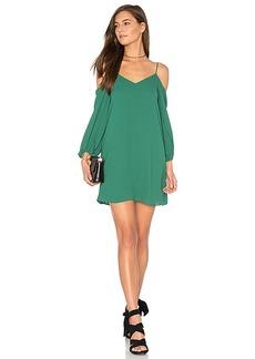 Alice + Olivia Carli Cold Shoulder Dress in Green. - size S (also in M,XS)