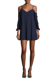 Alice + Olivia Carli Cold-Shoulder Mini Dress