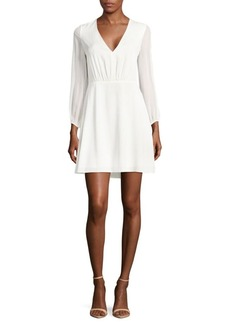 Alice + Olivia Cary Deep Mini Dress