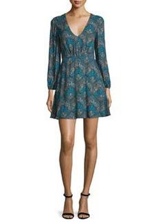 Alice + Olivia Cary Paisley V-Neck Minidress