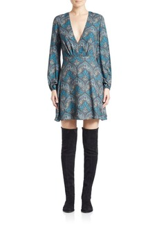 Alice + Olivia Cary Printed A-Line Dress