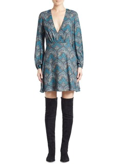 Alice + Olivia Cary Printed A-Line Dress