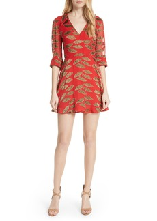 Alice + Olivia Catina Faux Wrap Print Dress