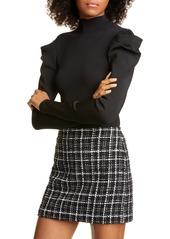 Alice + Olivia CeCe Dramatic Puff Sleeve Pullover