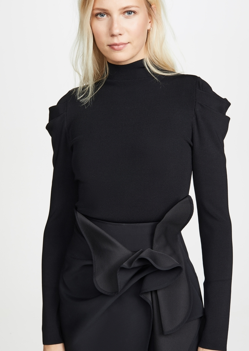 alice + olivia Cece Dramatic Puff Sleeve Pullover