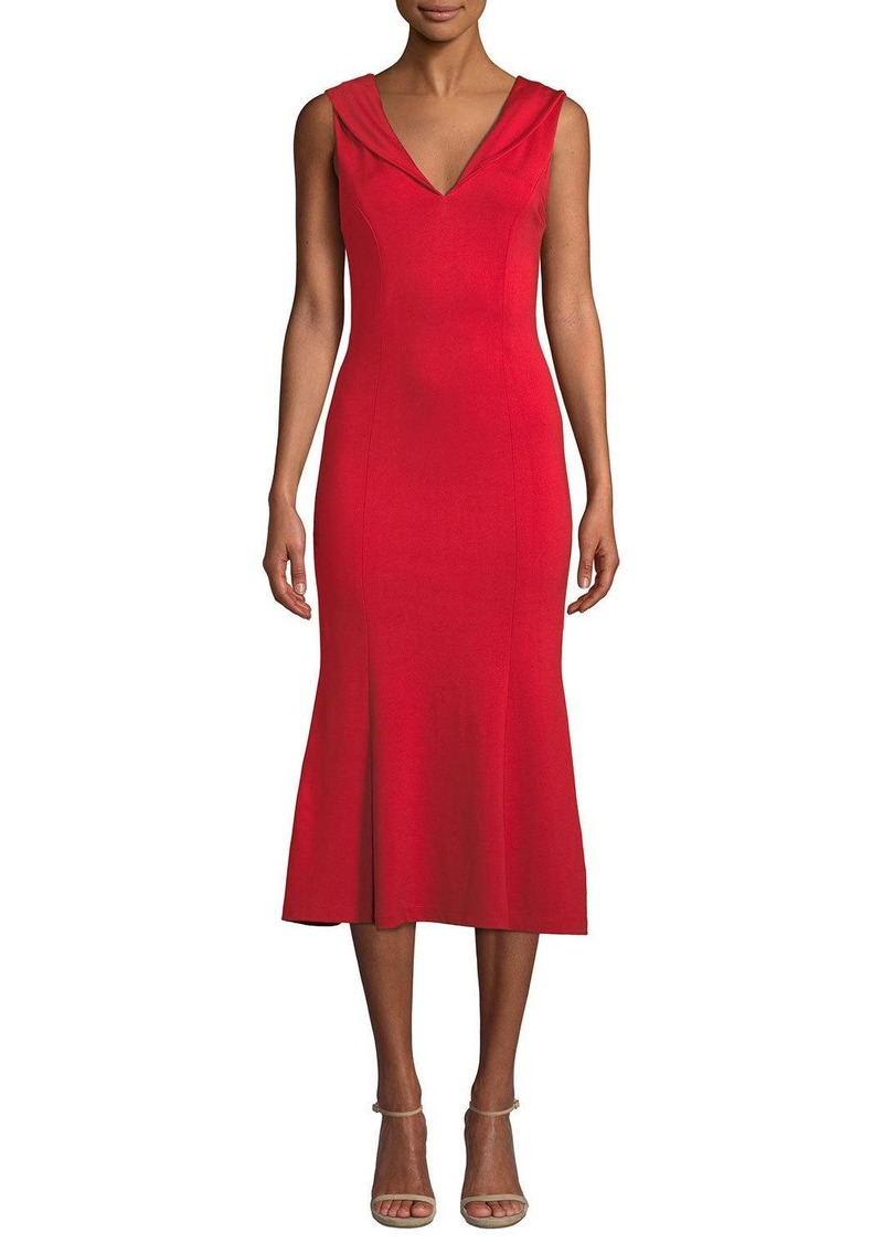 Alice + Olivia Cecilia Draped-Shoulder Sleeveless Cocktail Dress