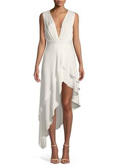 Alice + Olivia Chantay Sleeveless Asymmetric Maxi Dress