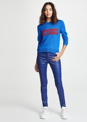alice + olivia Chia Relaxed Wool Pullover