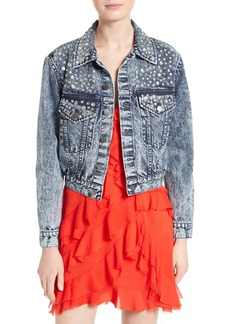 Alice + Olivia Chloe Embellished Denim Jacket