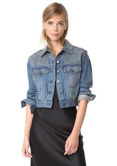 alice + olivia Chloe Studded Denim Jacket