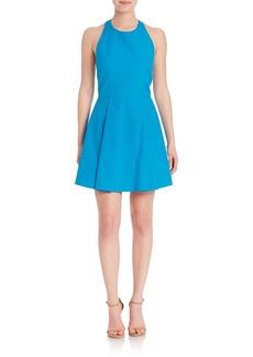 Alice + Olivia Christie Fit & Flare Halterneck Dress