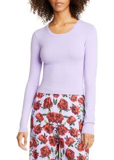 Alice + Olivia Ciara Ribbed Crop Sweater