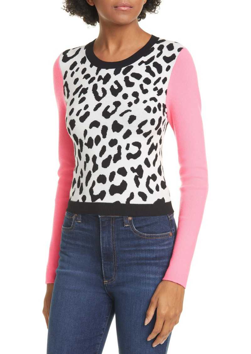 Alice + Olivia Ciara Leopard Pattern Sweater
