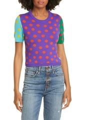 Alice + Olivia Ciara Reversible Dot Wool Blend Sweater