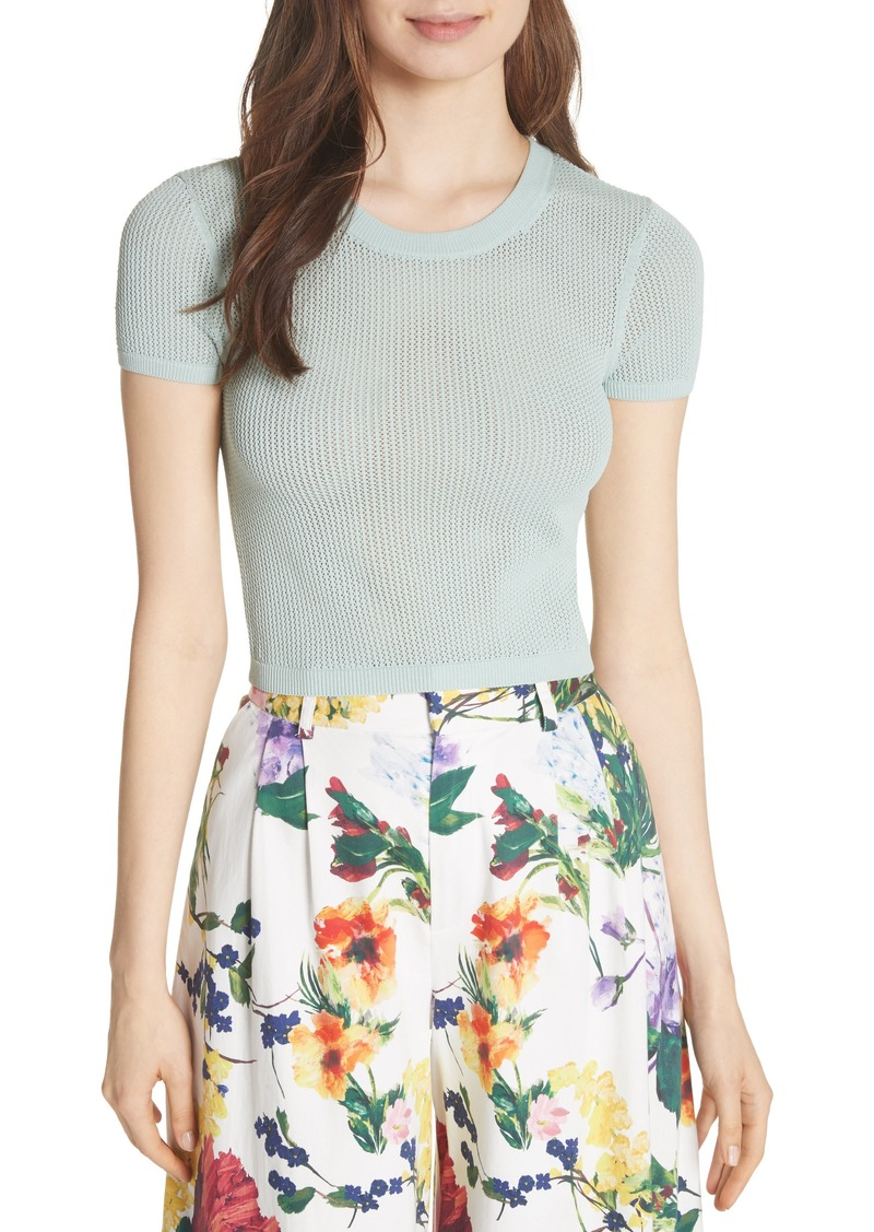 0125e5110c8e54 Alice + Olivia Alice + Olivia Ciara Textured Crop Top Now  89.98