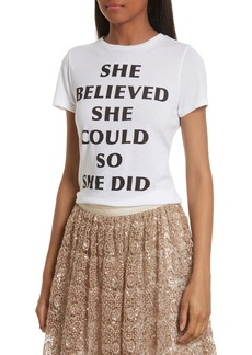 Alice + Olivia Cicely She Believed Communi-T Tee