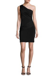 Alice + Olivia Cici One-Shoulder Mini Dress
