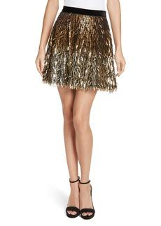 Alice + Olivia Cina Embellished Miniskirt