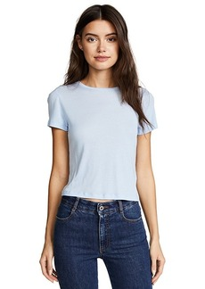 alice + olivia Cindy Classic Cropped Tee