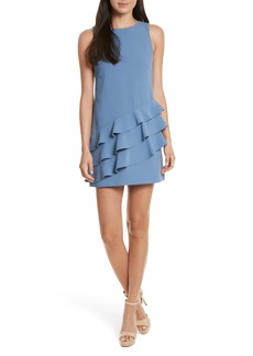 Alice + Olivia Clive Asymmetrical Ruffle A-Line Dress