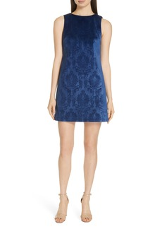 Alice + Olivia Clyde A-Line Damask Shift Dress