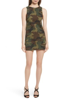 Alice + Olivia Clyde Camo A-Line Shift Dress