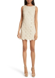 Alice + Olivia Clyde Dot Lace Shift Dress