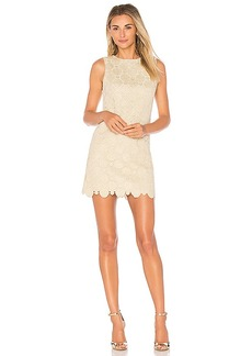 Alice + Olivia Clyde Dress in Metallic Gold. - size 0 (also in 2,4,6)