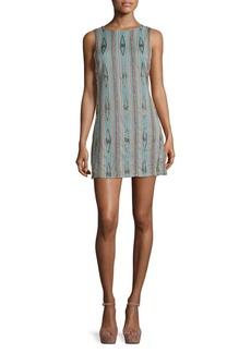 Alice + Olivia Clyde Embellished Cotton Shift Dress
