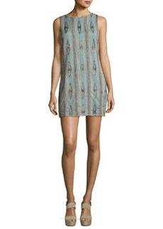 Alice + Olivia Clyde Embellished Sleeveless Shift Dress