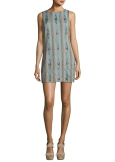 Alice + Olivia Clyde Embellished Sleeveless Shift Dress