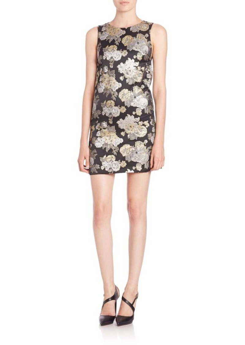 Alice + Olivia Clyde Embroidered Mini A-Line Shift Dress