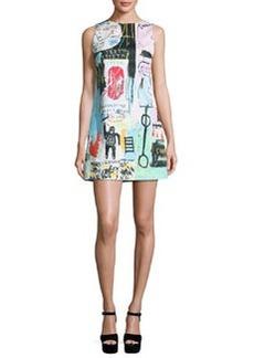 Alice + Olivia Clyde Graffiti-Print Shift Dress