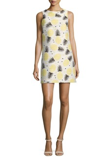 Alice + Olivia Clyde Pineapple-Print Shift Dress