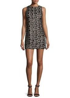 Alice + Olivia Clyde Sequined Lace Shift Dress