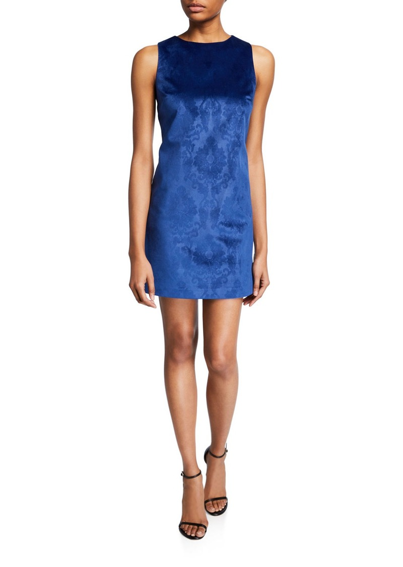 Alice + Olivia Clyde Short Brocade Cocktail Shift Dress
