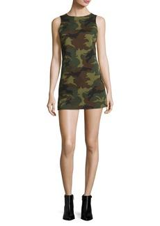 Alice + Olivia Clyde Sleeveless A-Line Camo Mini Dress