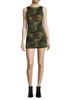 Alice + Olivia Clyde Sleeveless A-Line Camo Mini Dress