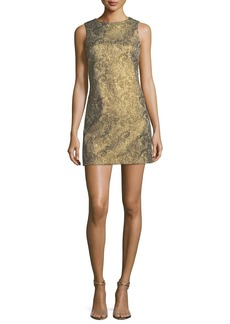 Alice + Olivia Clyde Sleeveless A-Line Metallic Jacquard Dress