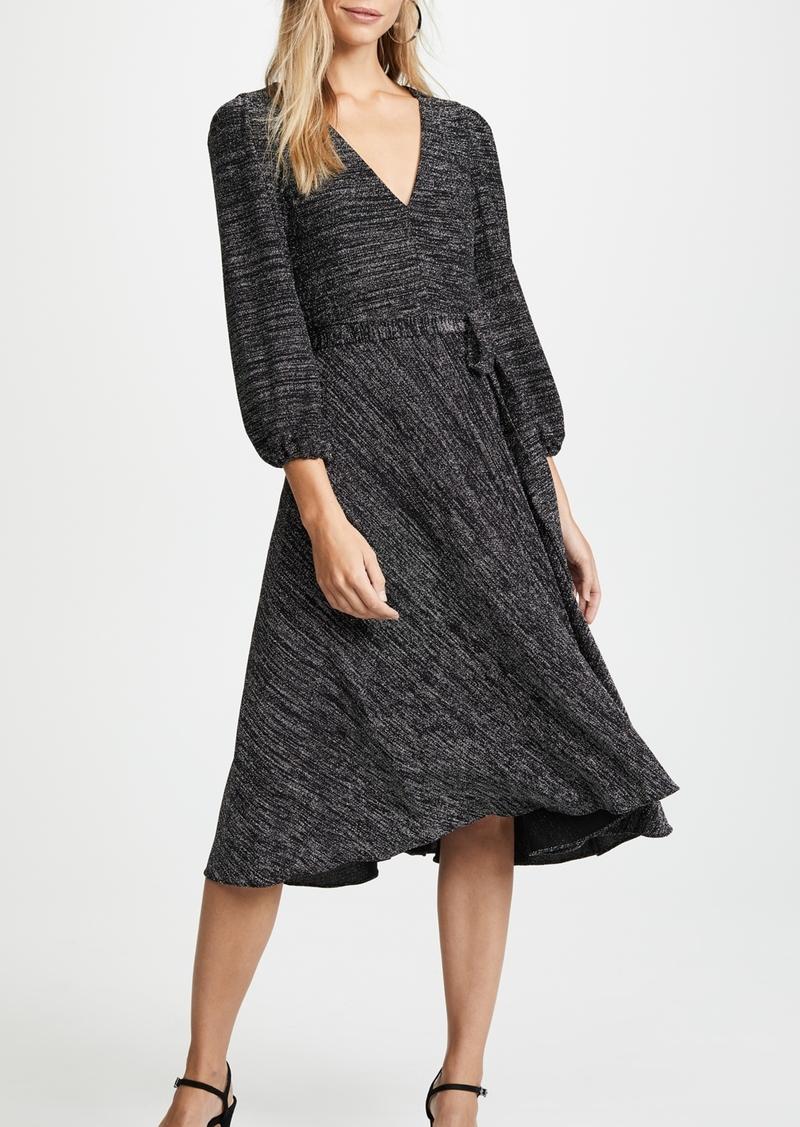 alice + olivia Coco Plunging V Neck Dress